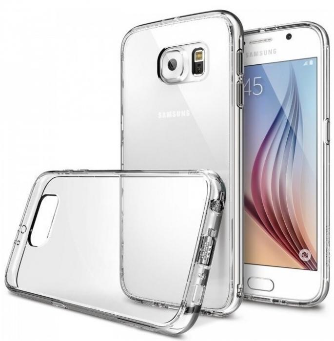 Husa Ringke FUSION CRYSTAL VIEW+BONUS folie protectie display Ringke pentru Samsung Galaxy S6 2