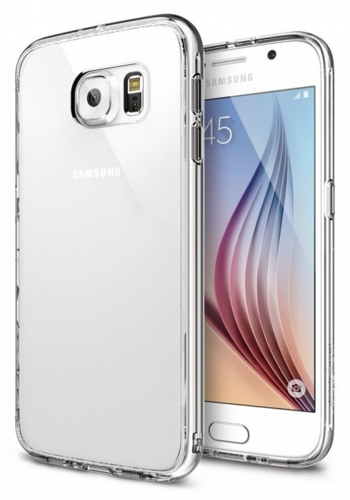 Husa Ringke FUSION CRYSTAL VIEW+BONUS folie protectie display Ringke pentru Samsung Galaxy S6 3