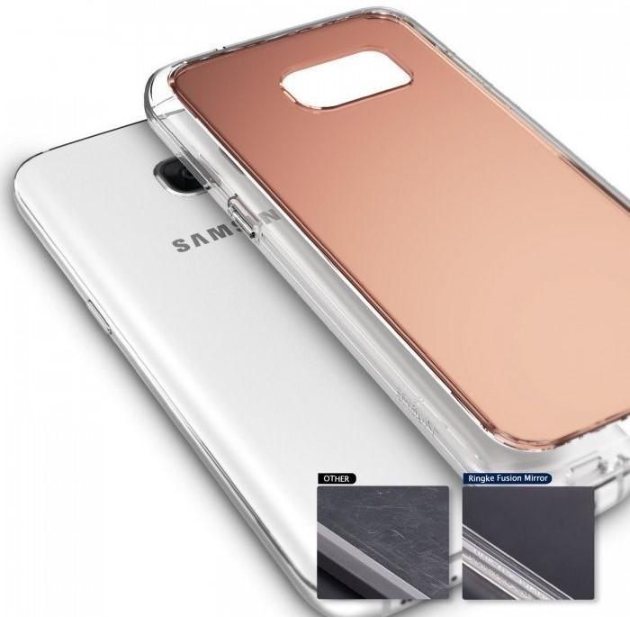 Husa Ringke MIRROR SILVER + BONUS folie protectie display Ringke pentru Samsung Galaxy S6 4