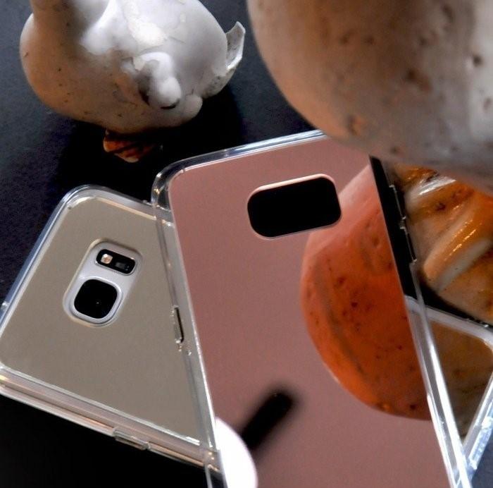 Husa Ringke MIRROR SILVER + BONUS folie protectie display Ringke pentru Samsung Galaxy S6 3