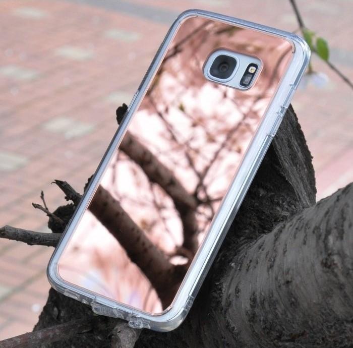 Husa Ringke MIRROR SILVER + BONUS folie protectie display Ringke pentru Samsung Galaxy S6 2