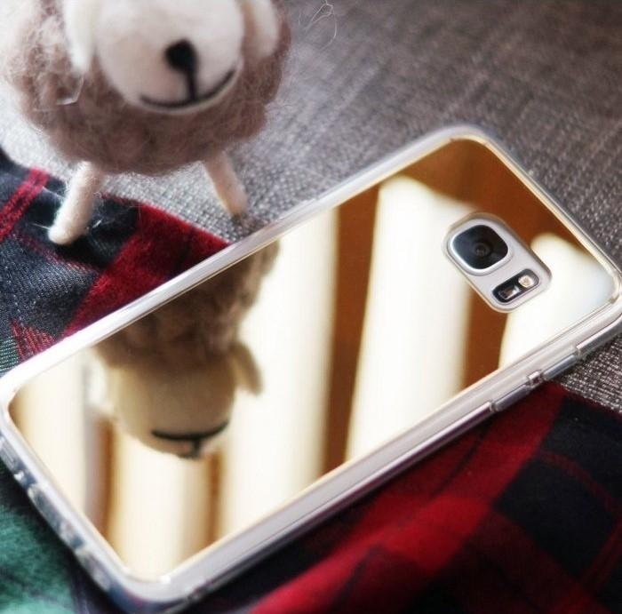 Husa Ringke MIRROR SILVER + BONUS folie protectie display Ringke pentru Samsung Galaxy S6 1