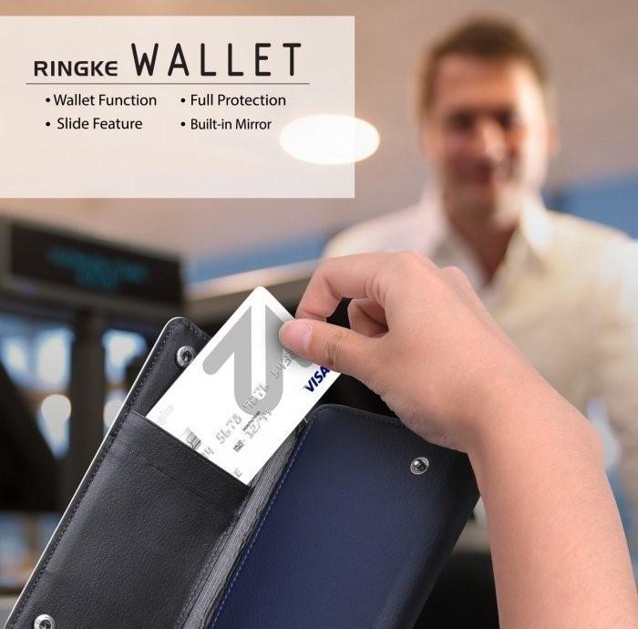 Husa Ringke WALLET ALB ALBASTRU pentru Samsung Galaxy S6 4