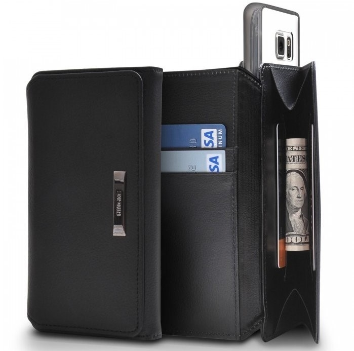 Husa Ringke WALLET NEGRU pentru Samsung Galaxy S6 1