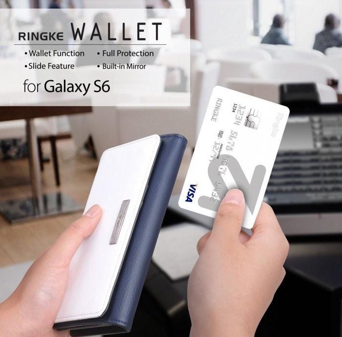 Husa Ringke WALLET NEGRU pentru Samsung Galaxy S6 4