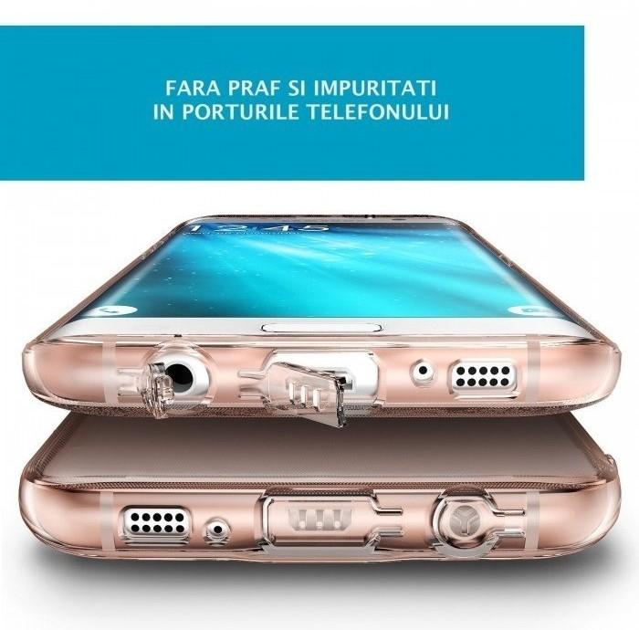 Husa Ringke AIR SMOKE BLACK pentru Samsung Galaxy S7 EDGE 2