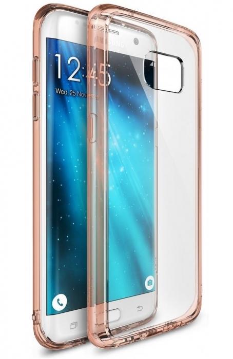 Husa Ringke FUSION ROSE GOLD pentru Samsung Galaxy S7 Edge 1