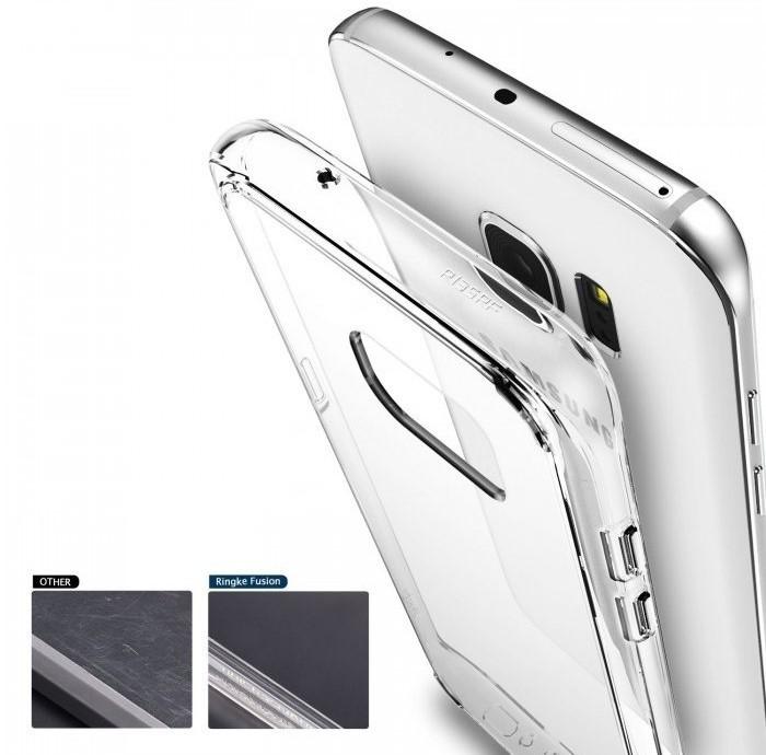Husa Ringke FUSION ROSE GOLD pentru Samsung Galaxy S7 Edge 5