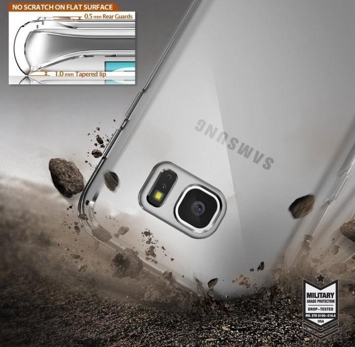 Husa Ringke FUSION ROSE GOLD pentru Samsung Galaxy S7 Edge 6