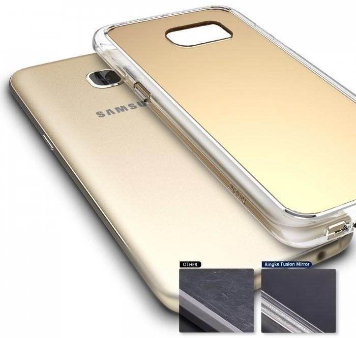 Husa Ringke MIRROR ROYAL GOLD pentru Samsung Galaxy S7 Edge 6