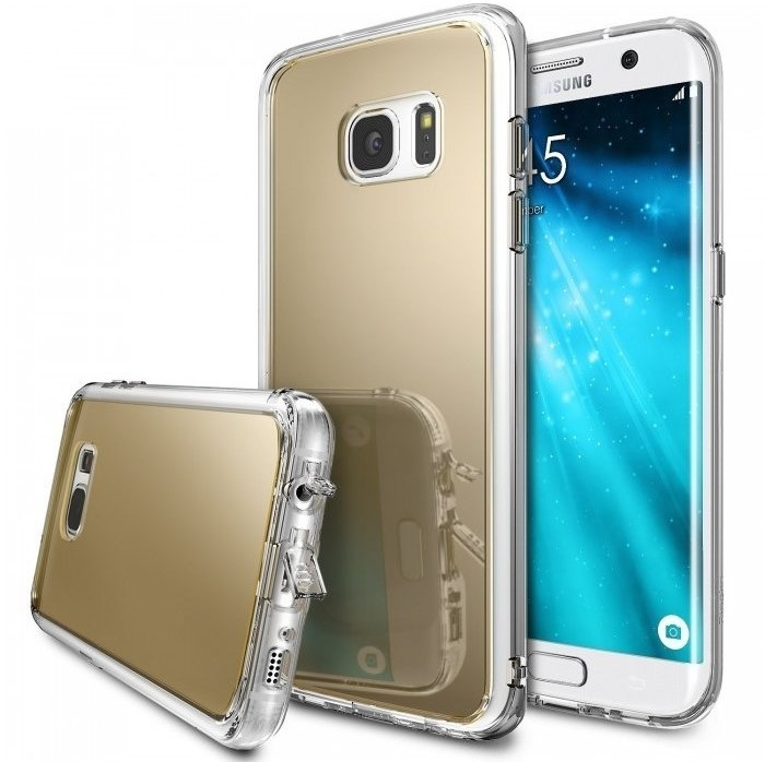 Husa Ringke MIRROR ROYAL GOLD pentru Samsung Galaxy S7 Edge 0