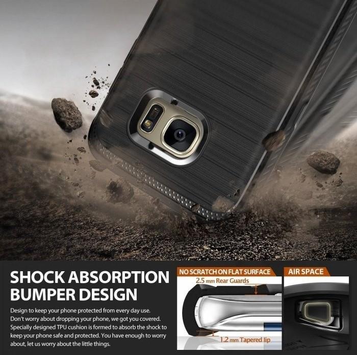 Husa Ringke ONYX MIST GREY pentru Samsung Galaxy S7 Edge 5