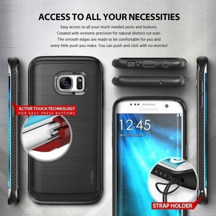 Husa Ringke ONYX MIST GREY pentru Samsung Galaxy S7 Edge 4
