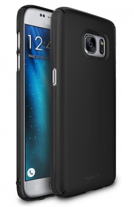 Husa Ringke Slim SF BLACK pentru Samsung Galaxy S7 Edge 5