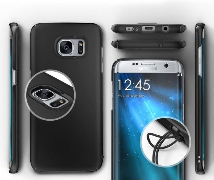 Husa Ringke Slim SF BLACK pentru Samsung Galaxy S7 Edge 1