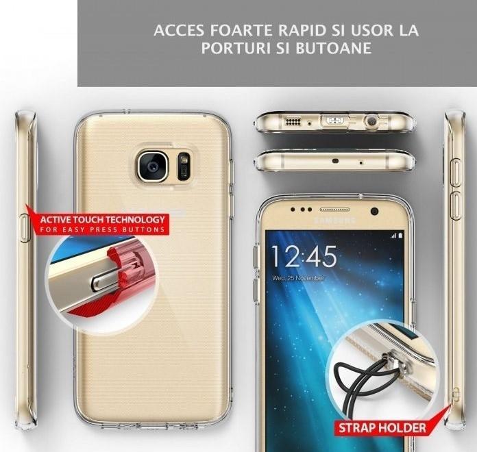 Husa Ringke AIR CRYSTAL VIEW + BONUS folie protectie display Ringke pentru Samsung Galaxy S7 5