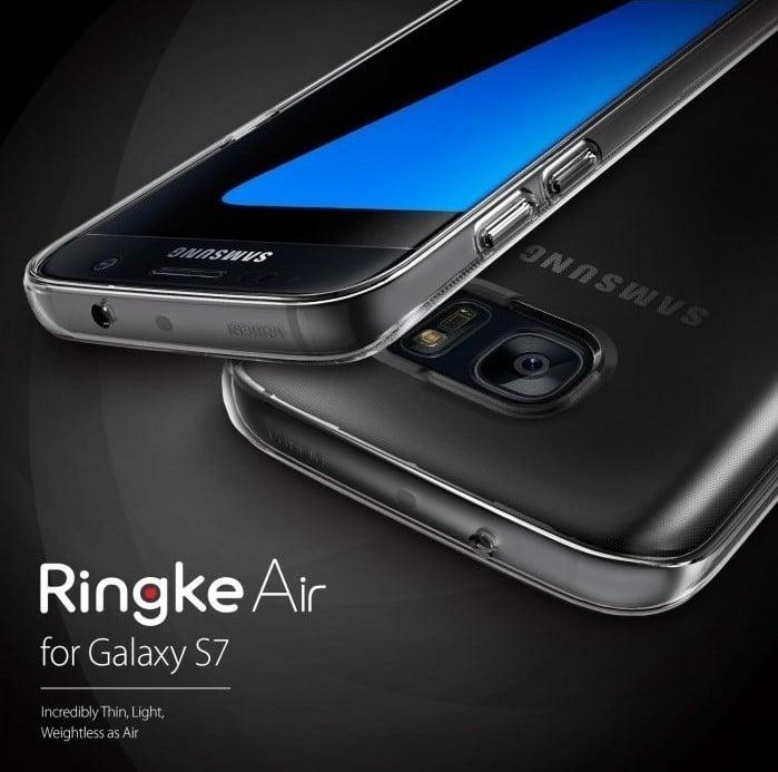 Husa Ringke AIR SMOKE BLACK + BONUS folie protectie display Ringke pentru Samsung Galaxy S7 3