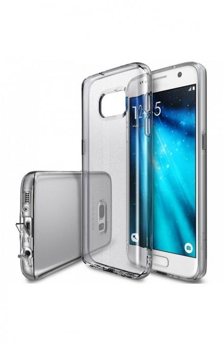 Husa Ringke AIR SMOKE BLACK + BONUS folie protectie display Ringke pentru Samsung Galaxy S7 0