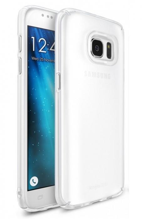 Husa Ringke Frost WHITE BONUS folie protectie display Ringke pentru Samsung Galaxy S7 0
