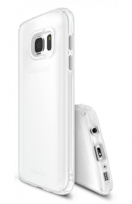 Husa Ringke Frost WHITE BONUS folie protectie display Ringke pentru Samsung Galaxy S7 2