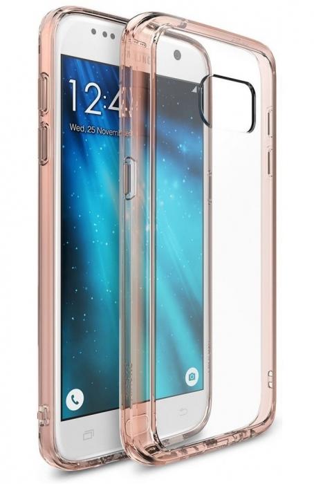 Husa Ringke FUSION ROSE GOLD + BONUS folie protectie display pentru Samsung Galaxy S7 0