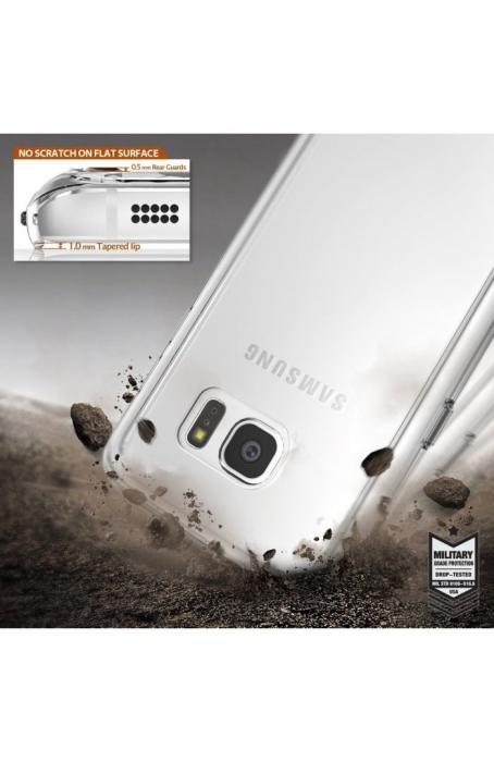 Husa Ringke FUSION ROSE GOLD + BONUS folie protectie display pentru Samsung Galaxy S7 5