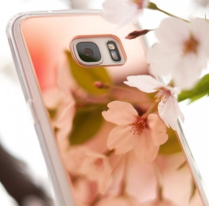 Husa Ringke MIRROR ROSE GOLD + BONUS folie protectie display Ringke pentru Samsung Galaxy S7 6