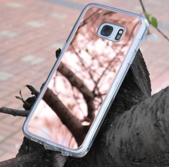 Husa Ringke MIRROR ROSE GOLD + BONUS folie protectie display Ringke pentru Samsung Galaxy S7 2