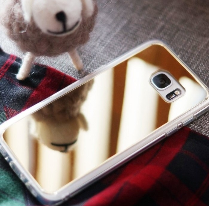 Husa Ringke MIRROR ROSE GOLD + BONUS folie protectie display Ringke pentru Samsung Galaxy S7 1