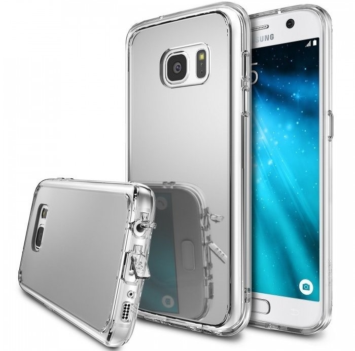 Husa Ringke MIRROR SILVER + BONUS folie protectie display Ringke pentru Samsung Galaxy S7 1