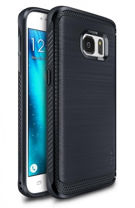 Husa Ringke ONYX midnight navy blue + folie Ringke cadou pentru Samsung Galaxy S7 8