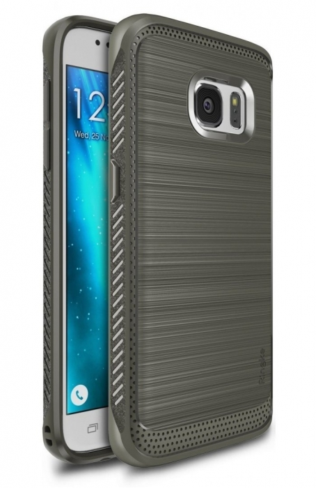 Husa Ringke ONYX MIST GREY + folie Ringke cadou pentru Samsung Galaxy S7 0