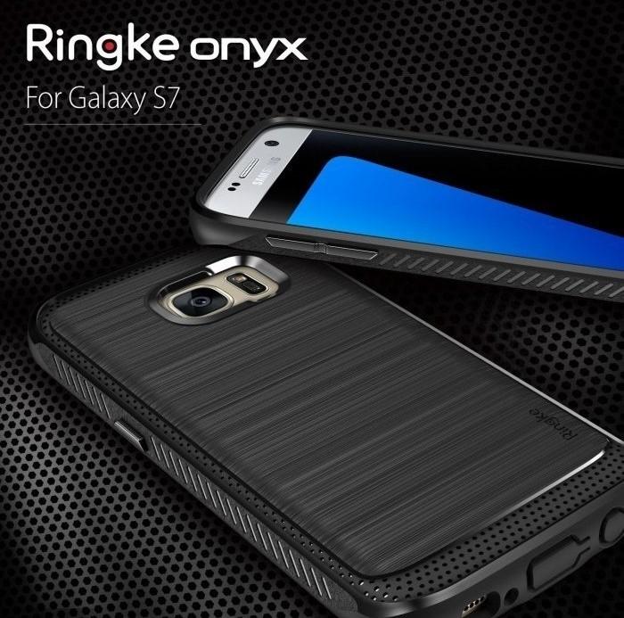 Husa Ringke ONYX MIST GREY + folie Ringke cadou pentru Samsung Galaxy S7 8