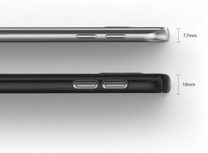 Husa Ringke SLIM ROYAL GOLD + BONUS folie protectie display Ringke pentru Samsung Galaxy S7 6