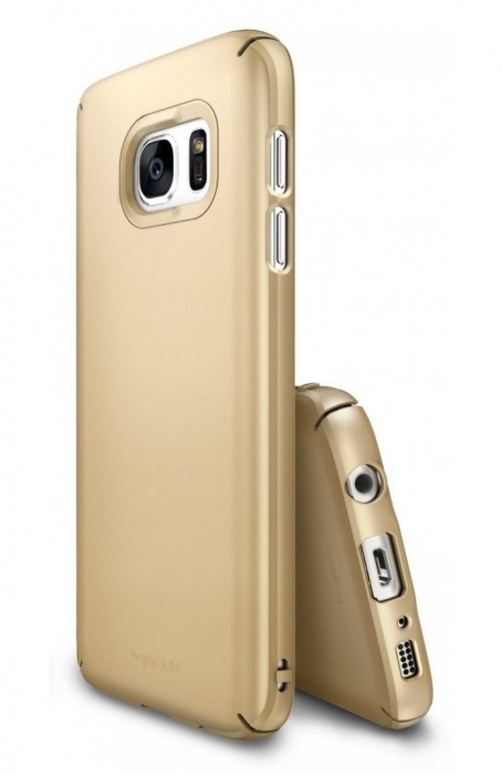 Husa Ringke SLIM ROYAL GOLD + BONUS folie protectie display Ringke pentru Samsung Galaxy S7 0