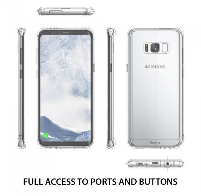 Husa Ringke Fusion Clear pentru Samsung Galaxy S8 Plus 3
