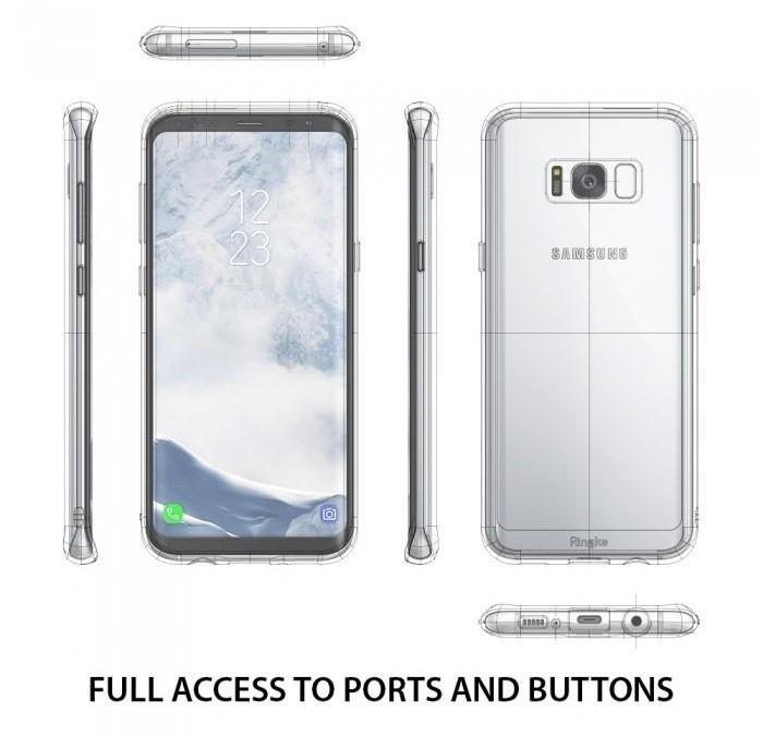 Husa Ringke Fusion Rose Gold pentru Samsung Galaxy S8 Plus 4