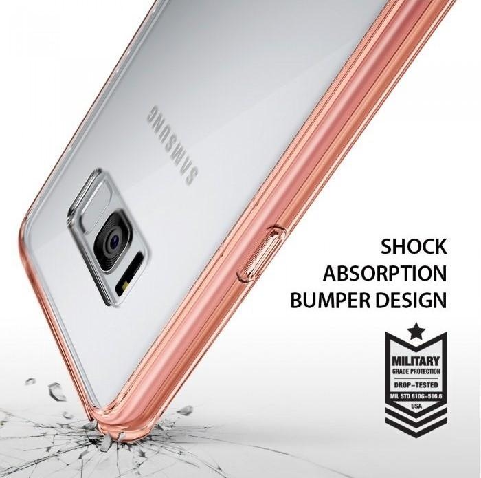 Husa Ringke Fusion Rose Gold pentru Samsung Galaxy S8 Plus 5