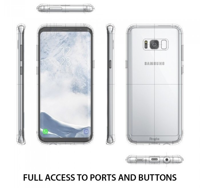 Husa Ringke Fusion Smoke Black pentru Samsung Galaxy S8 Plus 3