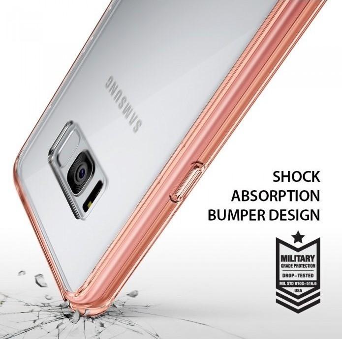 Husa Ringke Fusion Smoke Black pentru Samsung Galaxy S8 Plus 2