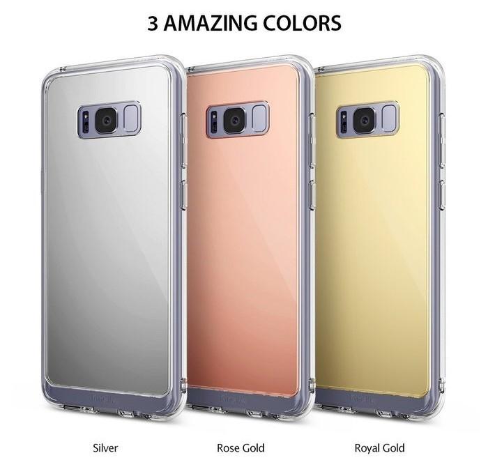 Husa Ringke MIRROR SILVER pentru Samsung Galaxy S8 Plus 7