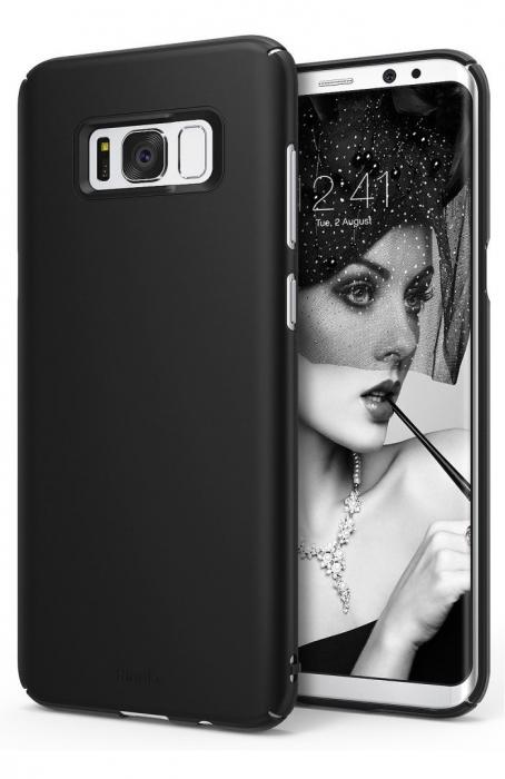Husa Ringke Slim Black pentru Samsung Galaxy S8 Plus 0