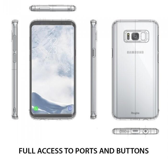 Husa Ringke Slim Blue Pearl pentru Samsung Galaxy S8 Plus 2