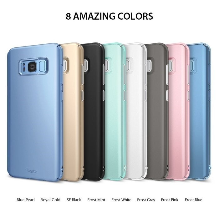 Husa Ringke Slim Frost Pink pentru Samsung Galaxy S8 Plus 3