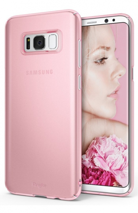 Husa Ringke Slim Frost Pink pentru Samsung Galaxy S8 Plus 7