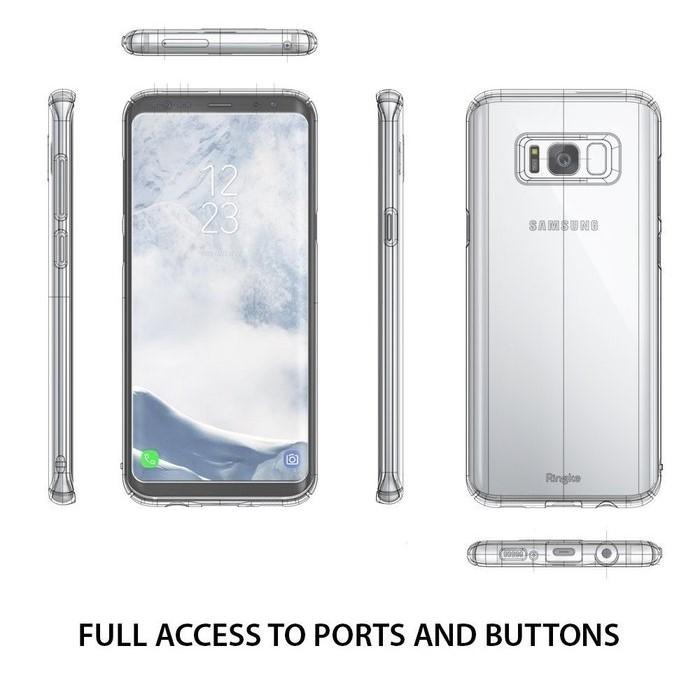 Husa Ringke Slim Frost White pentru Samsung Galaxy S8 Plus 4