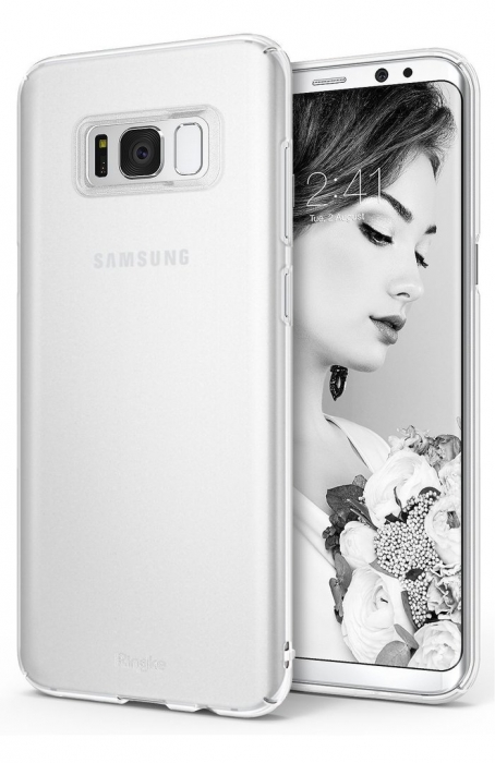 Husa Ringke Slim Frost White pentru Samsung Galaxy S8 Plus 0