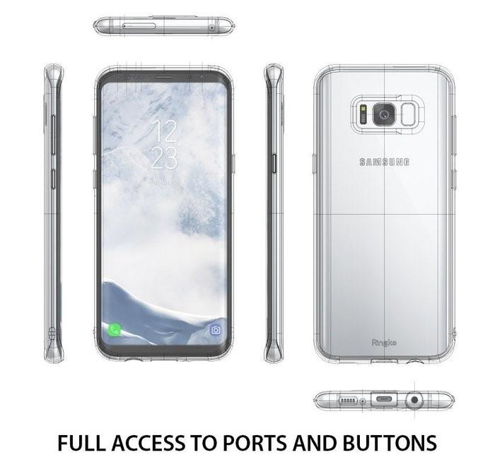 Husă Ringke Air Aqua Blue pentru Galaxy S8 3