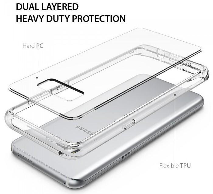 Husa Ringke Fusion Smoke Black pentru Samsung Galaxy S8 5