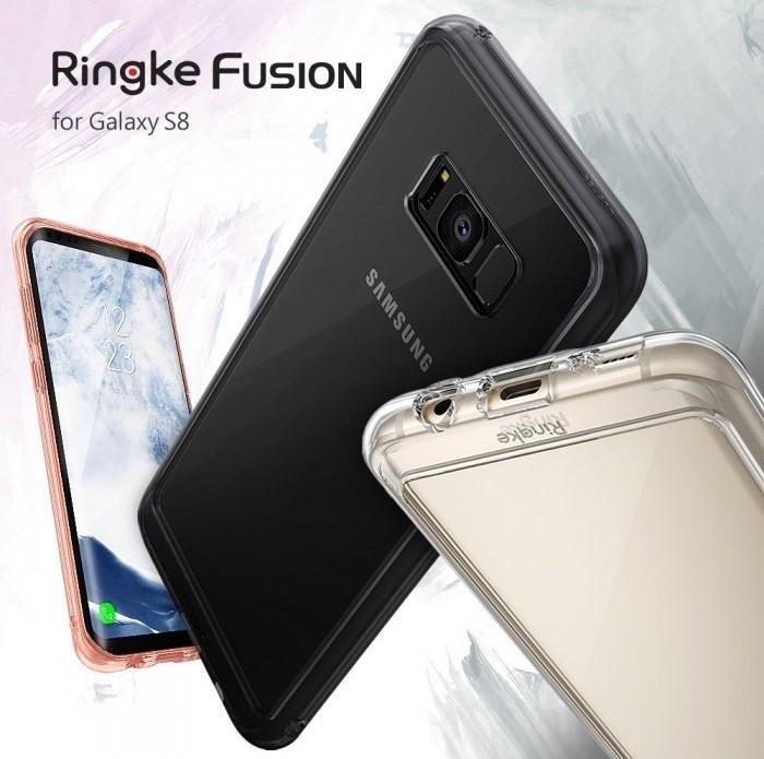 Husa Ringke Fusion Smoke Black pentru Samsung Galaxy S8 4
